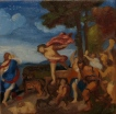 Painting a Day 2012: Sketch of Titian's Bacchus and Ariadne